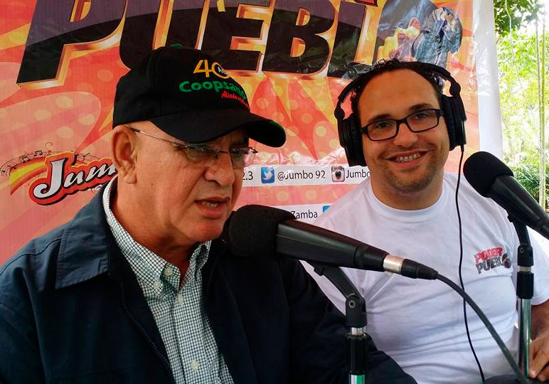 Profesor Reinaldo Estevez (Presidente Consejo Administracion de Coopsano) y Gabriel Thomas (Gerente de Thomas Comunicaciones).