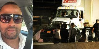 NUEVA YORK._ El taxista livery Leonel Paulino, murió al estrellarse contra la parte trasera de un camión en el Cross Bronx Expressway el sábado 19 de agosto a las 1:50 de la madrugada. (Fotos facebook y Vic Castro / NY Daily News).