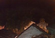 Casa inundada en el barrio Cambelén.