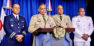 El ministro de Defensa, Rubén Darío Paulino Sem, habló en rueda de prensa la tarde de este jueves.